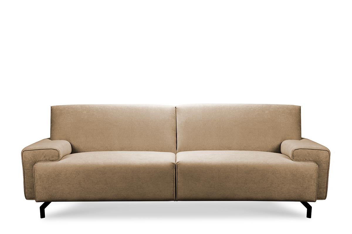 Sofa loft na czarnych nóżkach ciepły beż