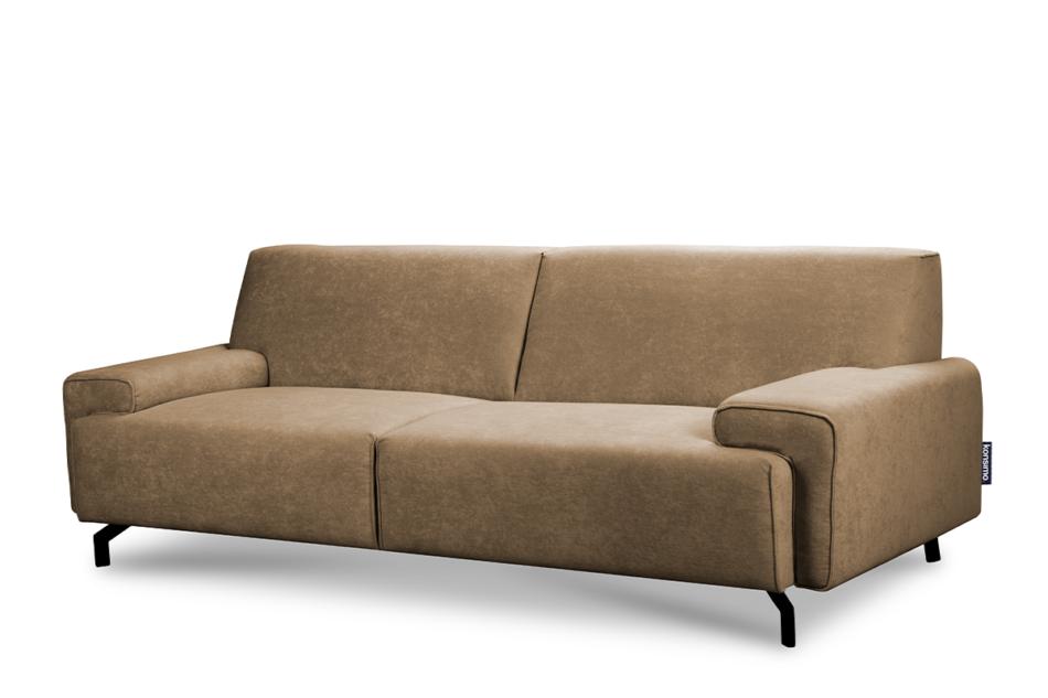 PERTO Sofa loft na czarnych nóżkach ciepły beż jasny brązowy - zdjęcie 2