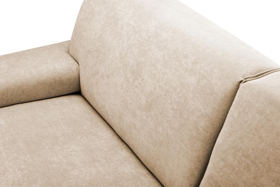 PERTO Sofa loft na czarnych nóżkach ciepły beż jasny brązowy - zdjęcie 6
