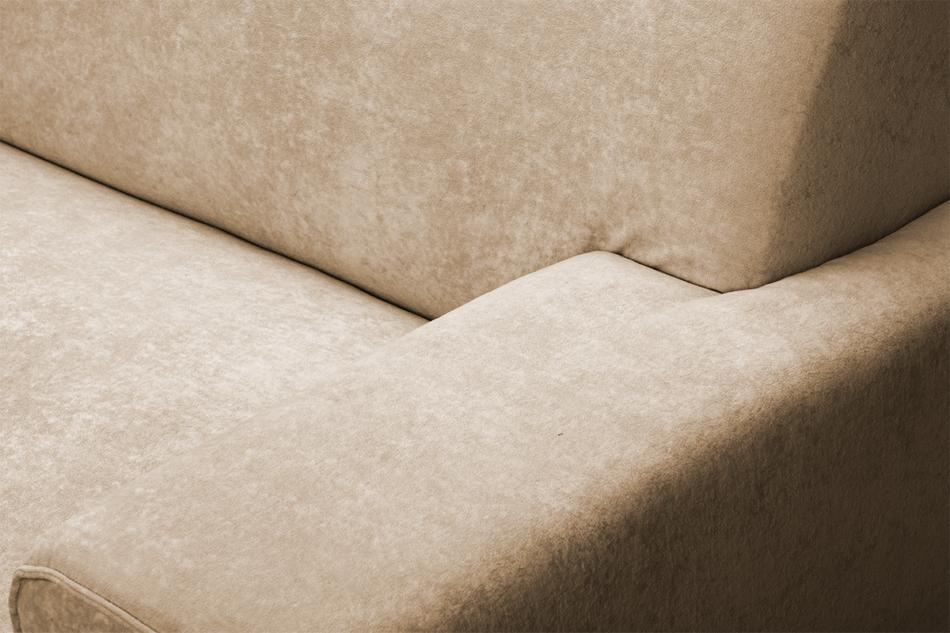 PERTO Sofa loft na czarnych nóżkach ciepły beż jasny brązowy - zdjęcie 7