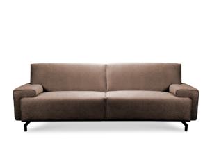 PERTO, https://konsimo.pl/kolekcja/perto/ Sofa loft na czarnych nóżkach brązowa ciemny brązowy - zdjęcie