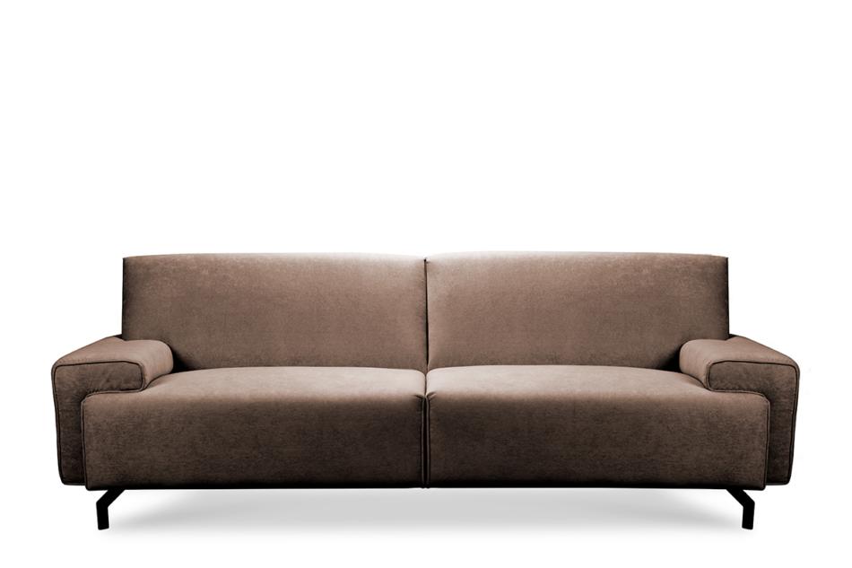 PERTO Sofa loft na czarnych nóżkach brązowa ciemny brązowy - zdjęcie 0