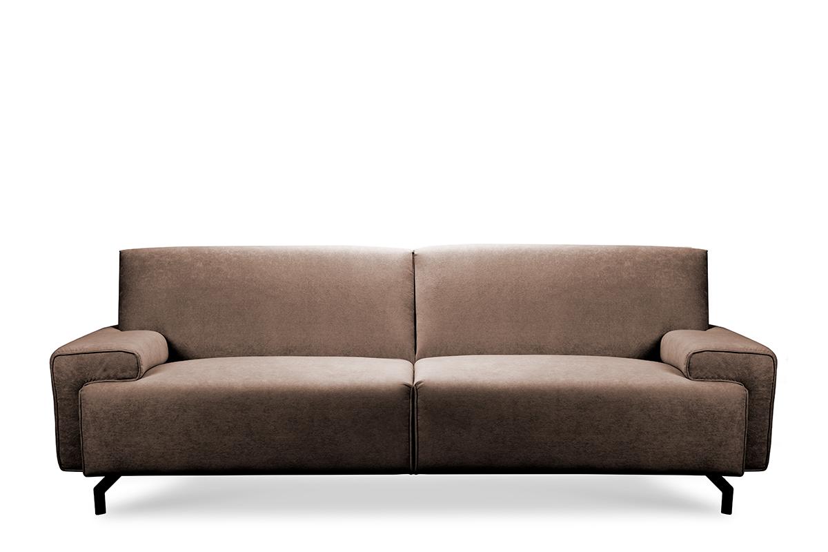Sofa loft na czarnych nóżkach brązowa