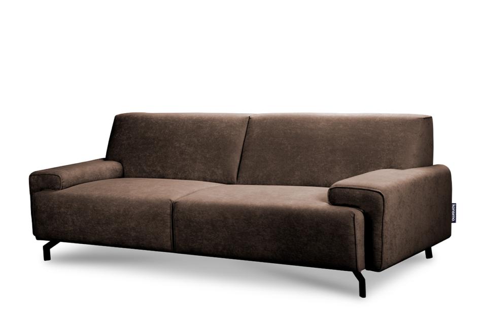 PERTO Sofa loft na czarnych nóżkach brązowa ciemny brązowy - zdjęcie 2