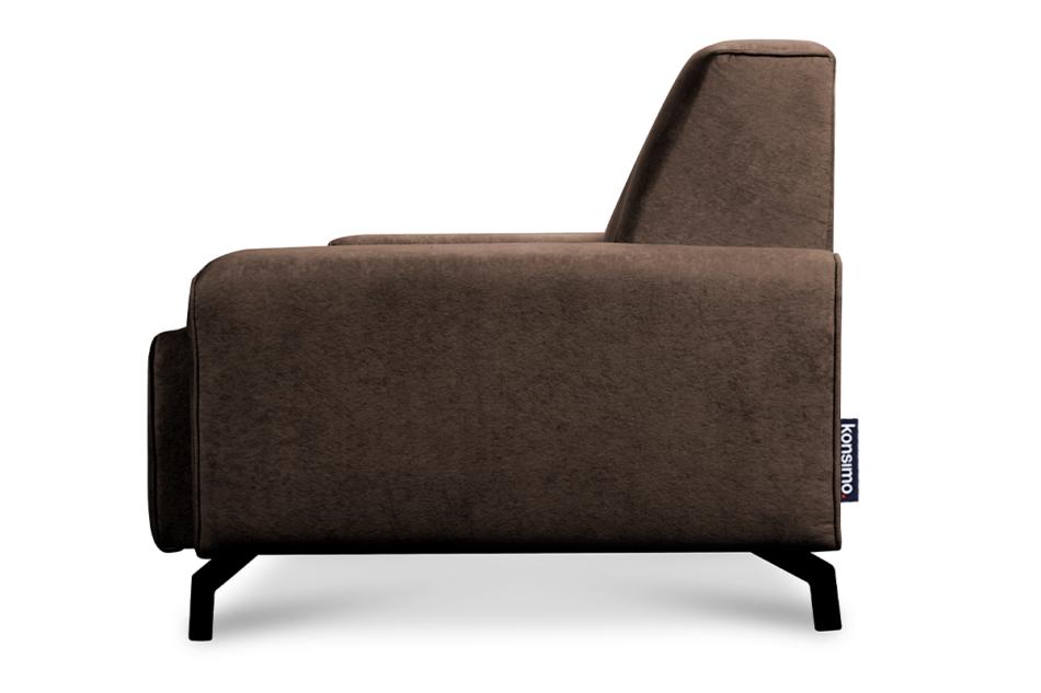 PERTO Sofa loft na czarnych nóżkach brązowa ciemny brązowy - zdjęcie 3