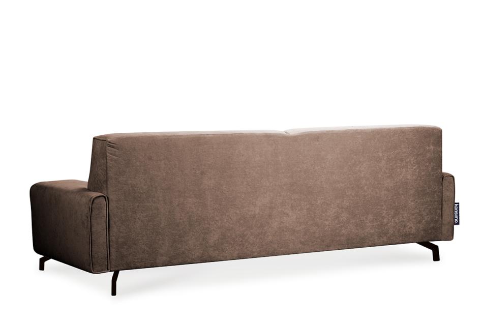 PERTO Sofa loft na czarnych nóżkach brązowa ciemny brązowy - zdjęcie 4