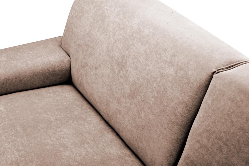 PERTO Sofa loft na czarnych nóżkach brązowa ciemny brązowy - zdjęcie 6