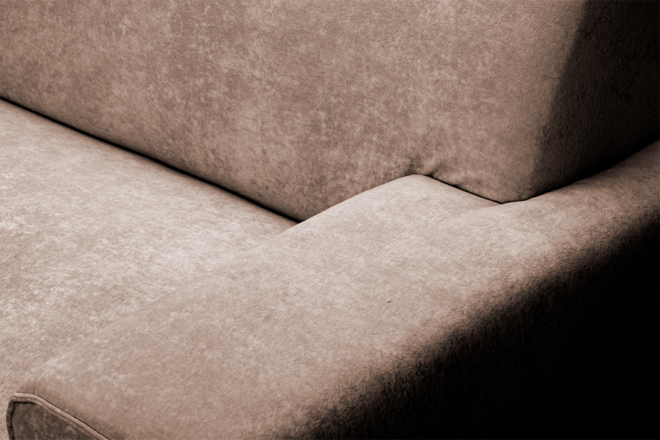 PERTO Sofa loft na czarnych nóżkach brązowa ciemny brązowy - zdjęcie 7