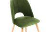 TINO Krzesło do jadalni welur zielone oliwkowy/jasny dąb - zdjęcie 5