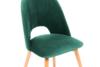 TINO Krzesło do jadalni welur butelkowa zieleń ciemny zielony/jasny dąb - zdjęcie 5