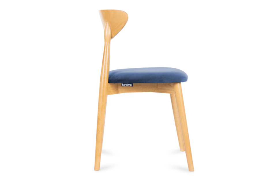 RABI Krzesło drewniane dąb granatowy welur granatowy/dąb jasny - zdjęcie 2