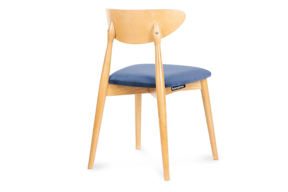 RABI Krzesło drewniane dąb granatowy welur granatowy/dąb jasny - zdjęcie 3