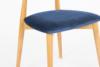 RABI Krzesło drewniane dąb granatowy welur granatowy/dąb jasny - zdjęcie 5