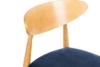 RABI Krzesło drewniane dąb granatowy welur granatowy/dąb jasny - zdjęcie 6