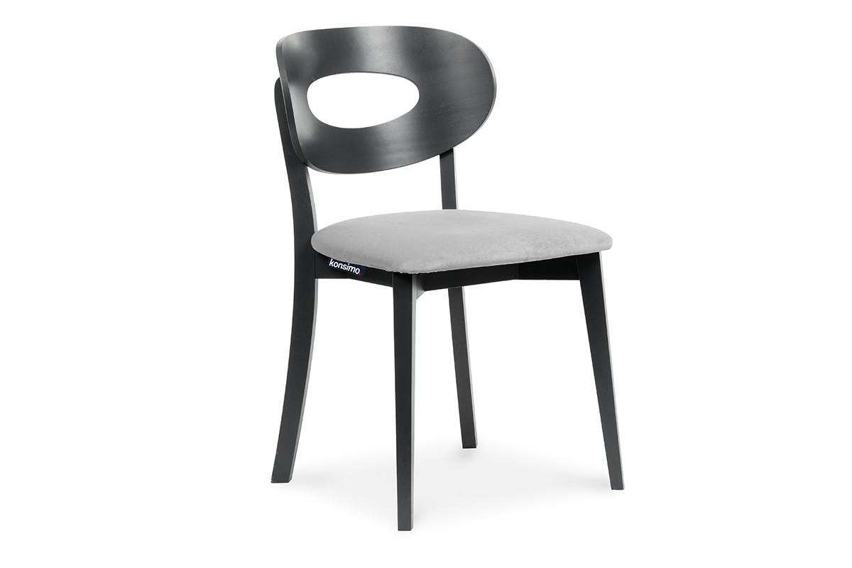 Krzesło vintage wenge szare