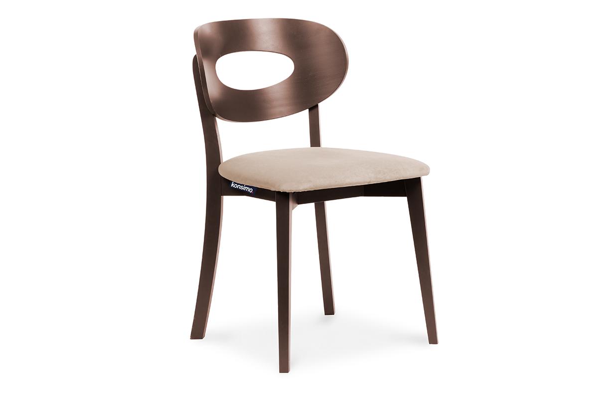Krzesło vintage mahoń beżowe