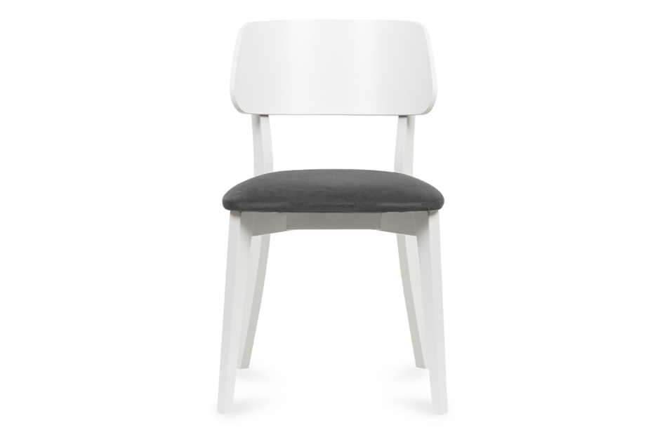 VINIS Krzesło nowoczesne białe drewniane szary szary/biały - zdjęcie 1