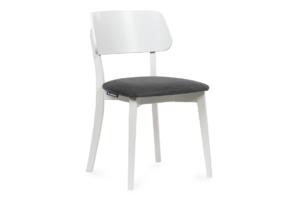 VINIS, https://konsimo.pl/kolekcja/vinis/ Krzesło nowoczesne białe drewniane szary szary/biały - zdjęcie