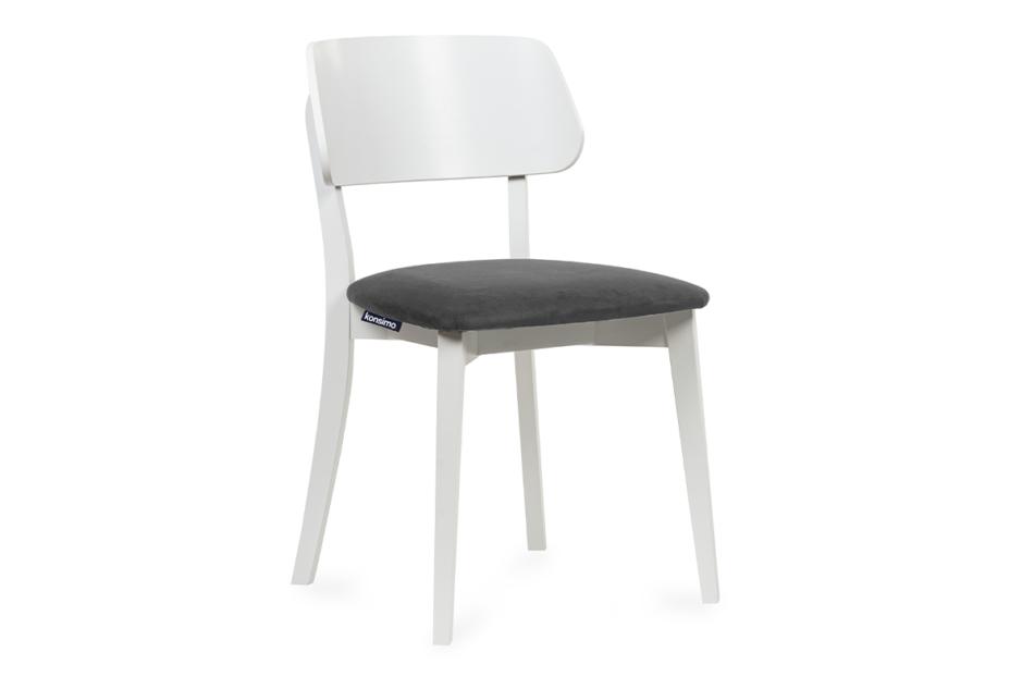 VINIS Krzesło nowoczesne białe drewniane szary szary/biały - zdjęcie 0