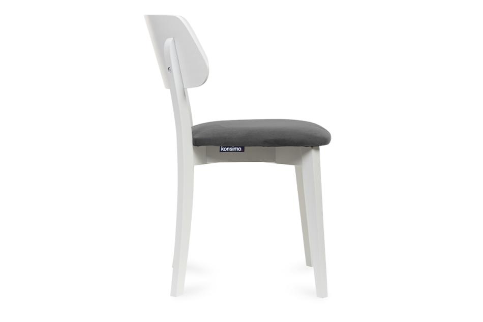 VINIS Krzesło nowoczesne białe drewniane szary szary/biały - zdjęcie 2