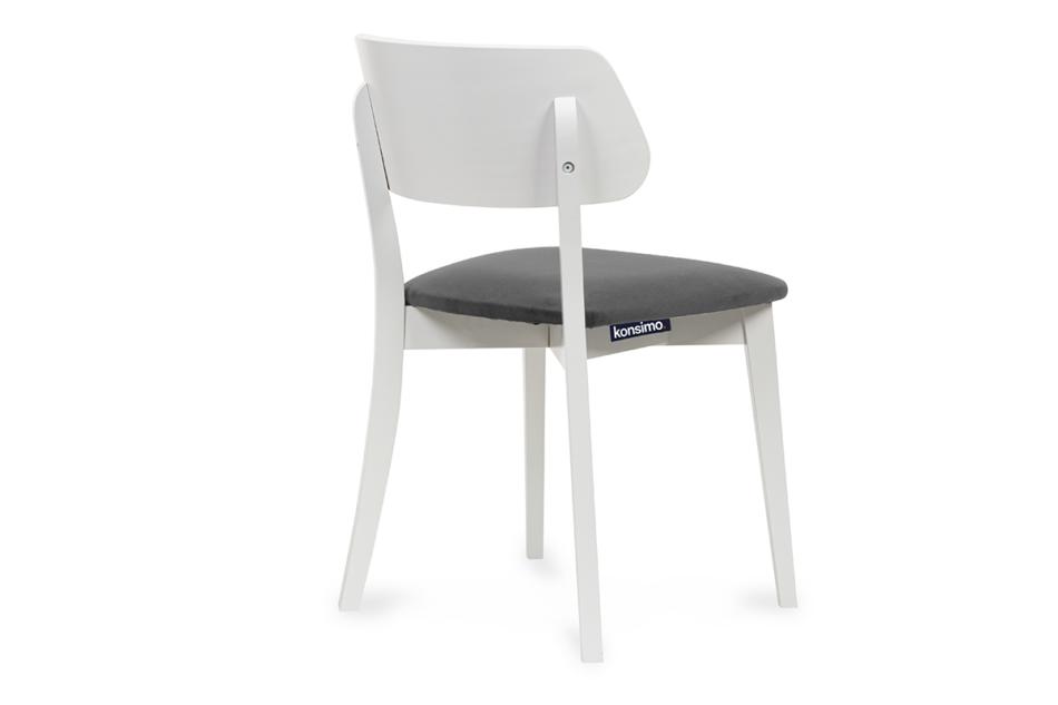 VINIS Krzesło nowoczesne białe drewniane szary szary/biały - zdjęcie 3