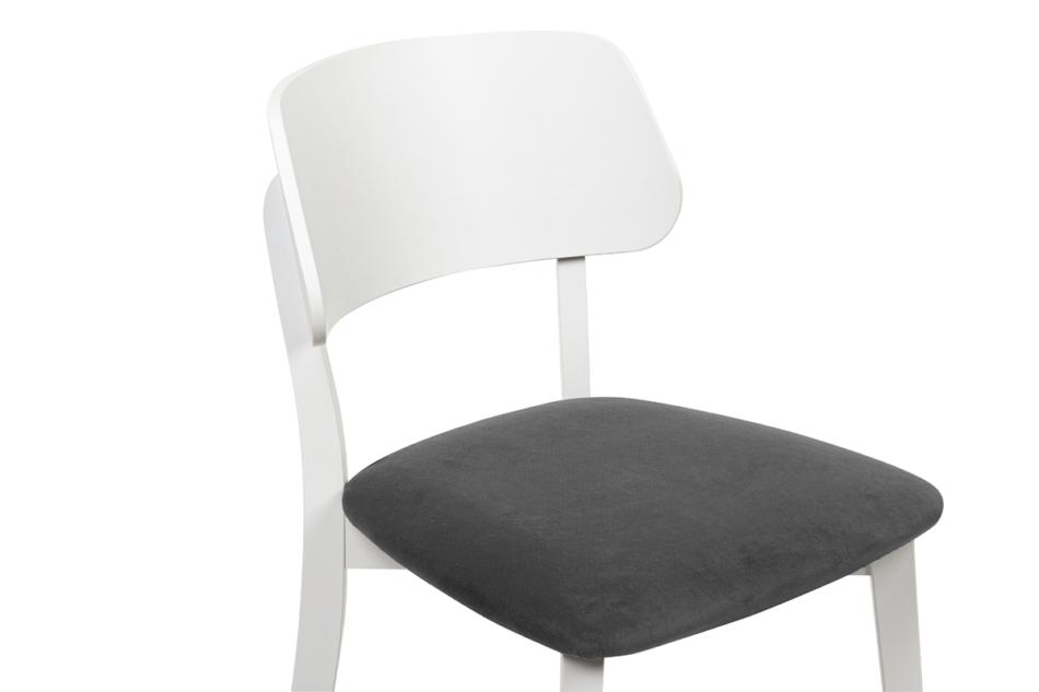 VINIS Krzesło nowoczesne białe drewniane szary szary/biały - zdjęcie 4