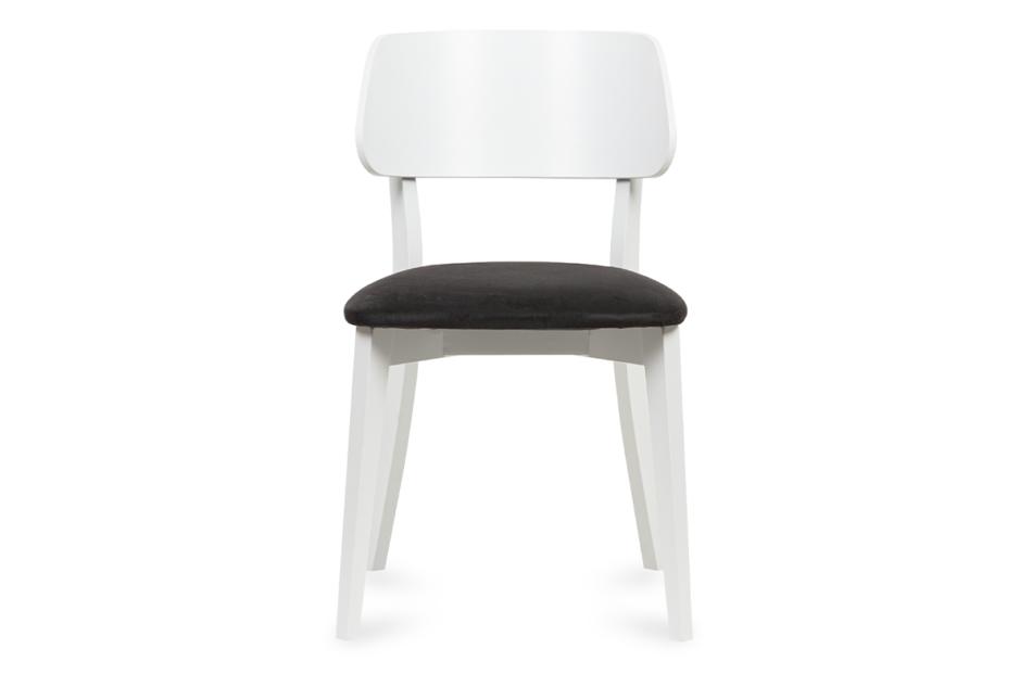 VINIS Krzesło nowoczesne białe drewniane grafit grafitowy/biały - zdjęcie 1
