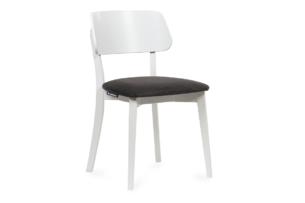 VINIS, https://konsimo.pl/kolekcja/vinis/ Krzesło nowoczesne białe drewniane grafit grafitowy/biały - zdjęcie
