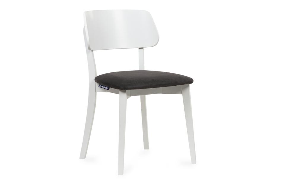 VINIS Krzesło nowoczesne białe drewniane grafit grafitowy/biały - zdjęcie 0