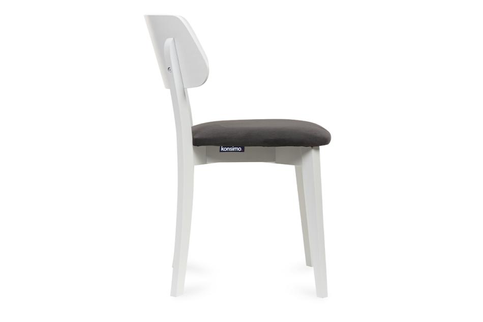 VINIS Krzesło nowoczesne białe drewniane grafit grafitowy/biały - zdjęcie 2