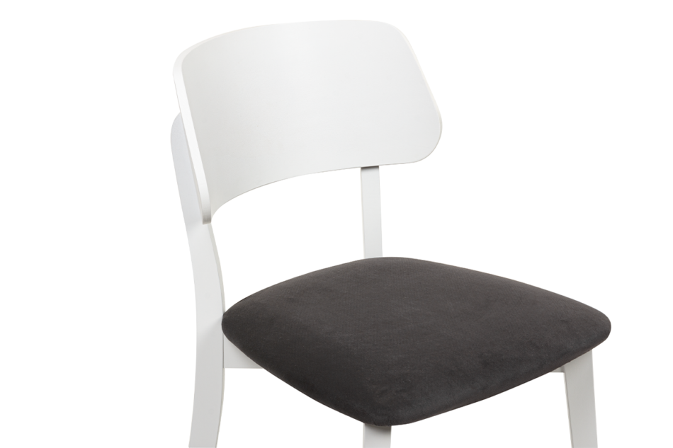 VINIS Krzesło nowoczesne białe drewniane grafit grafitowy/biały - zdjęcie 4