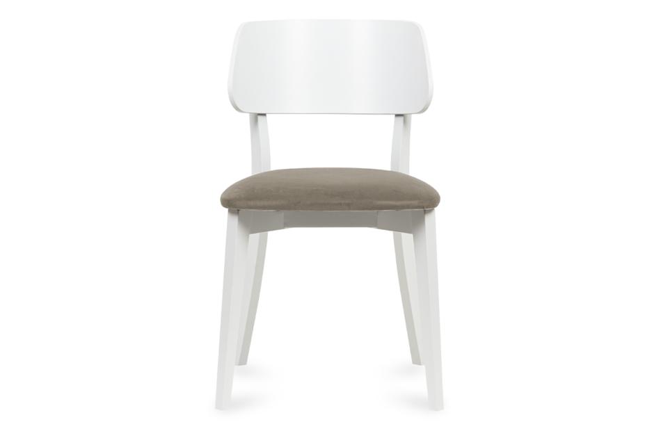 VINIS Krzesło nowoczesne białe drewniane beż beżowy/biały - zdjęcie 1