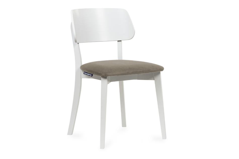 VINIS Krzesło nowoczesne białe drewniane beż beżowy/biały - zdjęcie 0