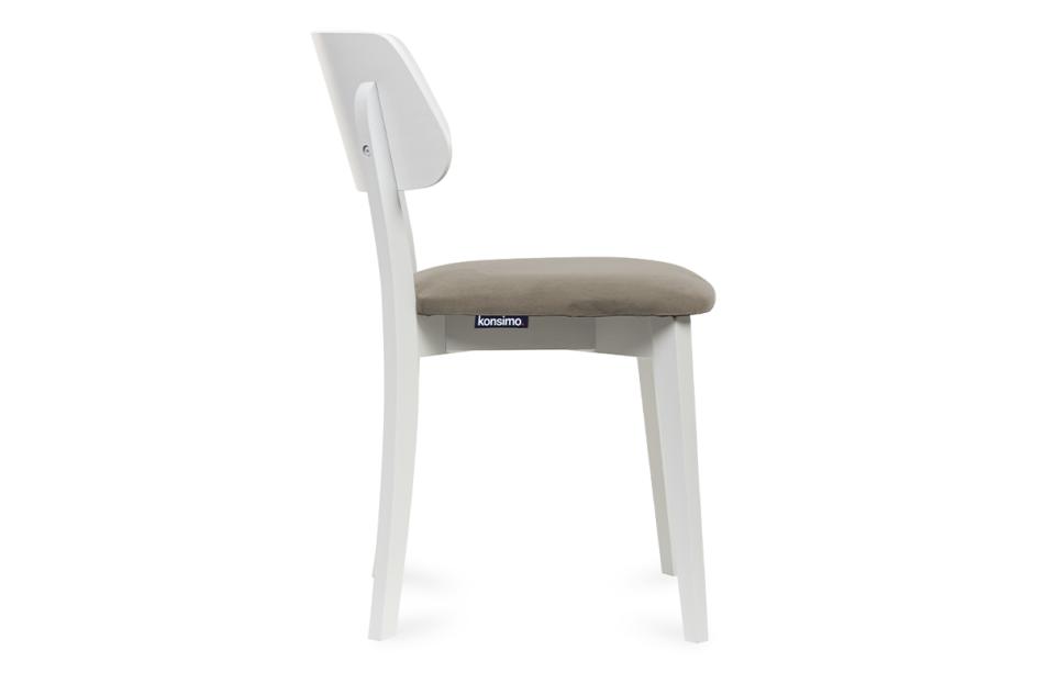 VINIS Krzesło nowoczesne białe drewniane beż beżowy/biały - zdjęcie 2