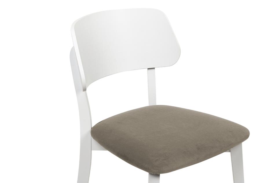 VINIS Krzesło nowoczesne białe drewniane beż beżowy/biały - zdjęcie 4
