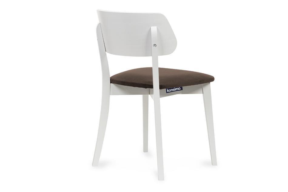 VINIS Krzesło nowoczesne białe drewniane brąz brązowy/biały - zdjęcie 3