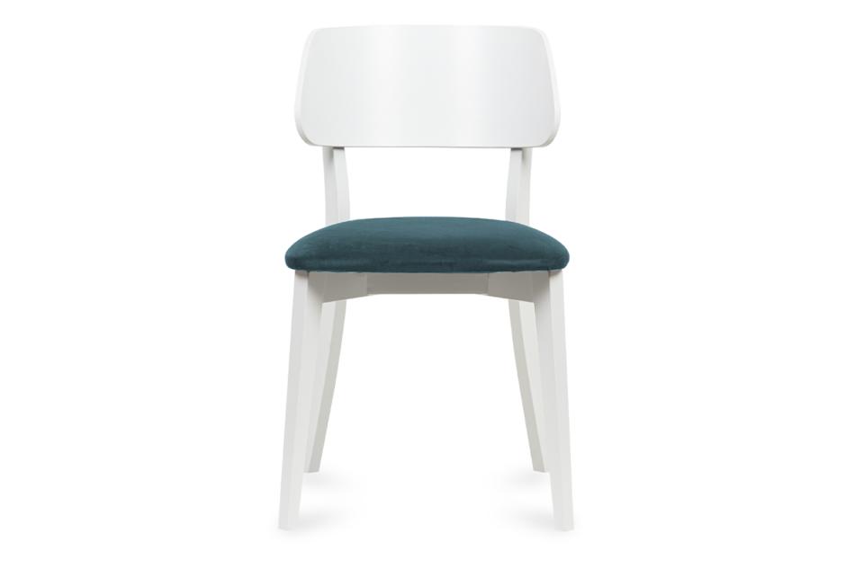 VINIS Krzesło nowoczesne białe drewniane turkus turkusowy/biały - zdjęcie 1
