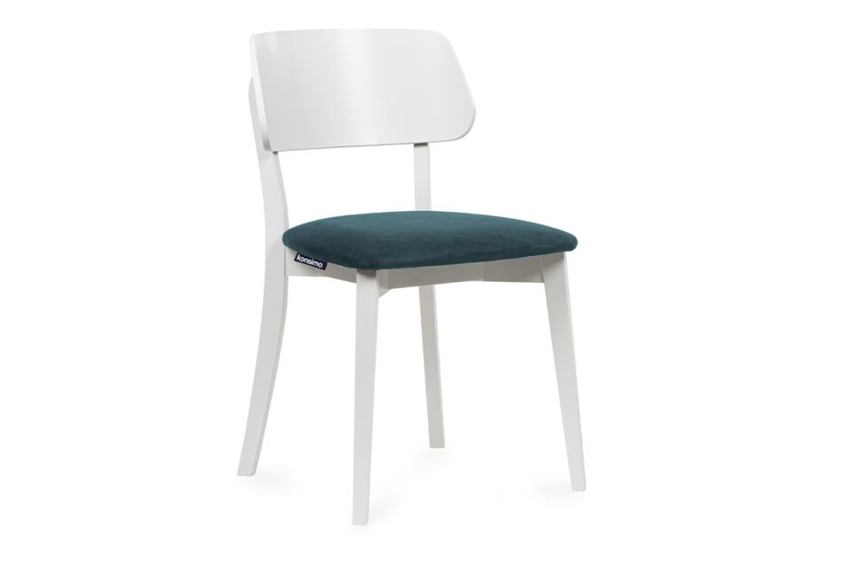 VINIS Krzesło nowoczesne białe drewniane turkus turkusowy/biały - zdjęcie 0