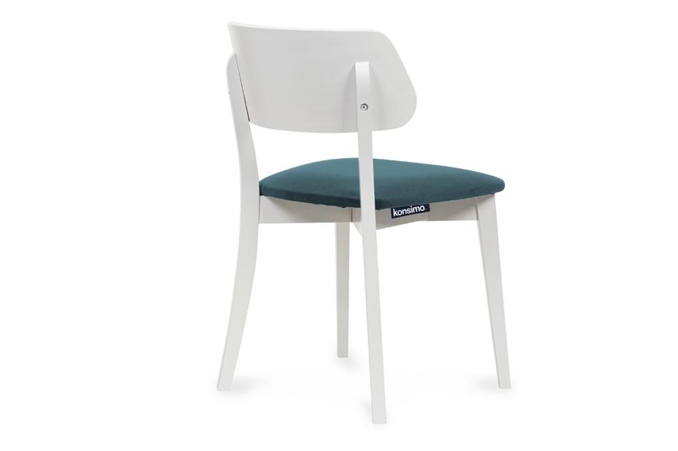 VINIS Krzesło nowoczesne białe drewniane turkus turkusowy/biały - zdjęcie 3