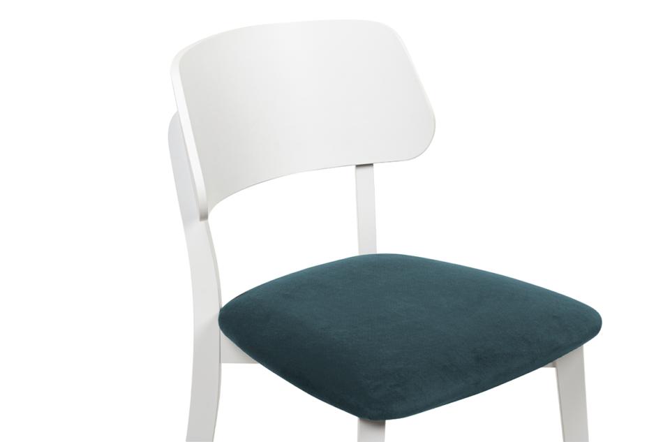 VINIS Krzesło nowoczesne białe drewniane turkus turkusowy/biały - zdjęcie 4
