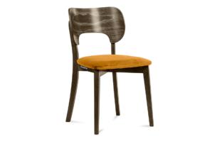 LYCO, https://konsimo.pl/kolekcja/lyco/ Krzesło loft orzech żółte musztardowy/orzech ciemny - zdjęcie