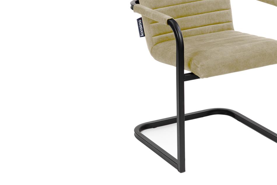 BASKO Krzesło biurowe kremowe kremowy/czarny - zdjęcie 4