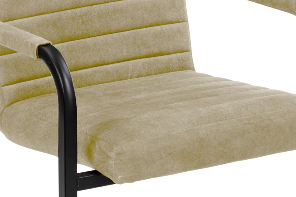 BASKO Krzesło biurowe kremowe kremowy/czarny - zdjęcie 5