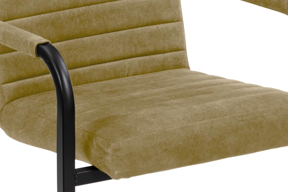 BASKO Krzesło biurowe beżowe beżowy/czarny - zdjęcie 5
