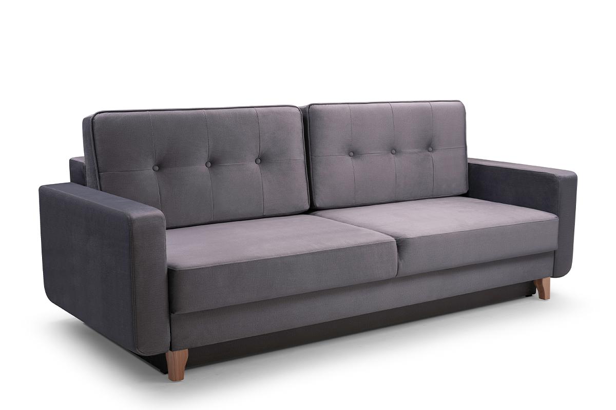 Skandynawska sofa 3 osobowa z funkcją spania szara