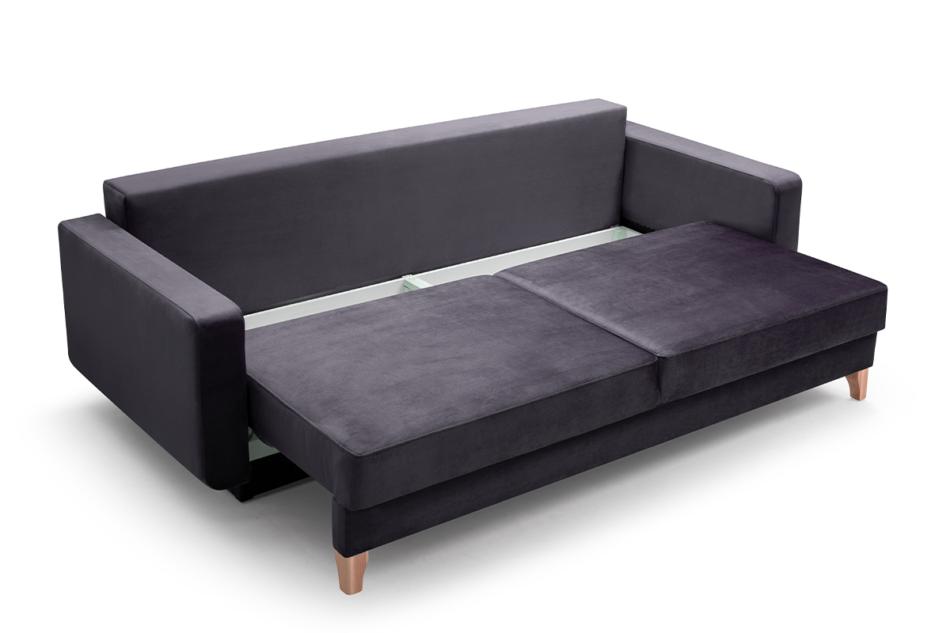 GUSTINA Skandynawska sofa 3 osobowa z funkcją spania szara Popiel - zdjęcie 3