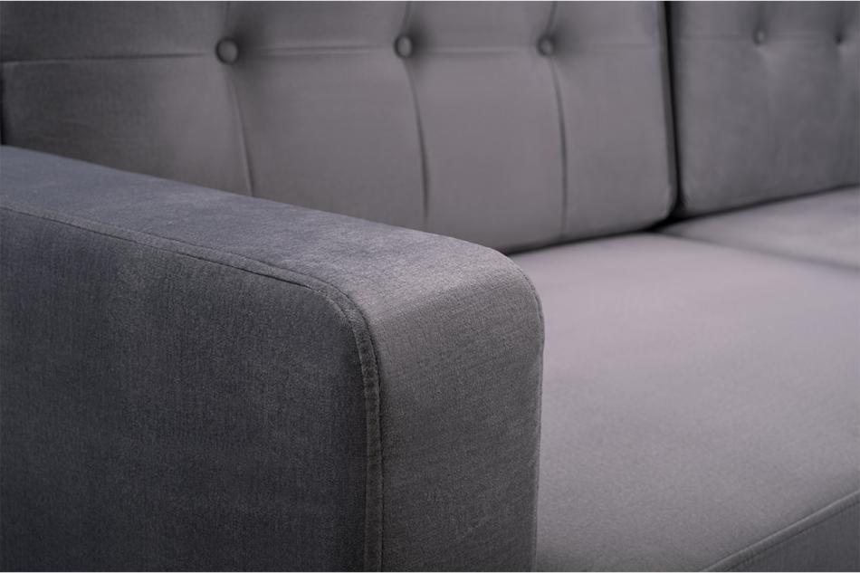 GUSTINA Skandynawska sofa 3 osobowa z funkcją spania szara Popiel - zdjęcie 5