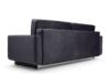 GUSTINA Skandynawska sofa 3 osobowa z funkcją spania grafitowa ciemny szary - zdjęcie 5