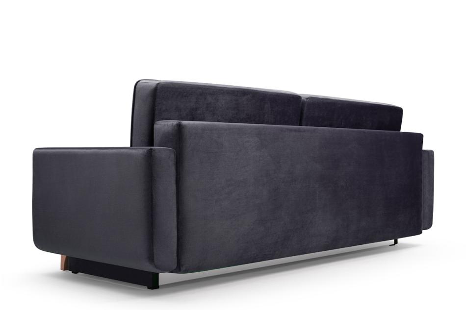 GUSTINA Skandynawska sofa 3 osobowa z funkcją spania grafitowa ciemny szary - zdjęcie 4