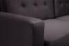 GUSTINA Skandynawska sofa 3 osobowa z funkcją spania grafitowa ciemny szary - zdjęcie 6